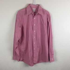 Brooks Brothers Red/White Stripe Button Up Shirt